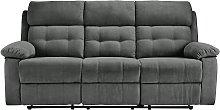 Argos Home June 3 Seater Fabric Recliner Sofa -