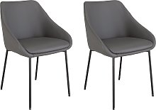 Argos Home Kanso Pair of Faux Leather Dining