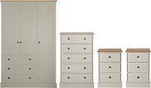 Argos Home Kensington 4 Piece Wardrobe Set -Grey/
