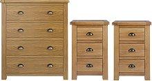 Argos Home Kent 2 Bedsides & 4 Drawer Set - Oak &