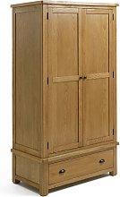Argos Home Kent 2 Door 1 Drawer Wardrobe - Oak &
