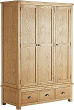 Argos Home Kent 3 Door 3 Drawer Wardrobe - Oak &