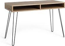 Argos Home Klark Hairpin Office Desk - Dark Wood