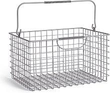 Argos Home Large Wire Basket - Matt Grey