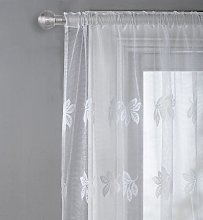 Argos Home Leaf Net Pencil Pleat Curtain