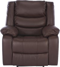 Argos Home Leather Massage Power Recliner Chair -