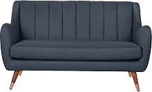 Argos Home Leila 2 Seater Fabric Sofa - Dark Blue