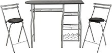 Argos Home Leon Wood Effect Bar Table & 2 Stools -