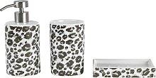Argos Home Leopard Print Bathroom Accessory Set -