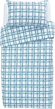 Argos Home Light Blue Check Bedding Set - Single
