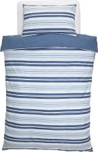 Argos Home Light Blue Striped Bedding Set - Single