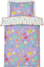Argos Home Lilac Sealife Bedding Set - Toddler