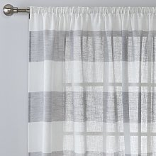 Argos Home Linen Look Stripe Voile Curtain Panel