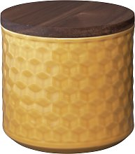 Argos Home Loft Living Canister - Mustard Yellow