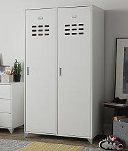 Argos Home Loft Locker 2 Door Wardrobe - White