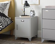 Argos Home Loft Locker Grey Bedside Cabinet