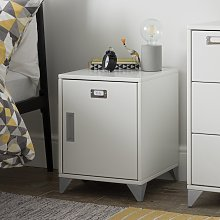 Argos Home Loft Locker White Bedside Cabinet