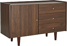 Argos Home Lola 1 Door 3 Drawer Sideboard - Walnut
