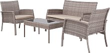 Argos Home Lucia 4 Seater Rattan Effect Sofa Set -