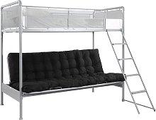 Argos Home Maddox Grey Futon Metal Bunk Bed Frame