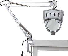 Argos Home Magnifier Swing Arm Desk Lamp - Silver
