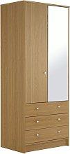Argos Home Malibu 2 Door 3 Drawer Wardrobe - Oak