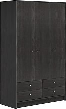 Argos Home Malibu 3 Dr 4 Drawer Wardrobe - Black