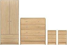 Argos Home Malibu 4 Piece 2 Door Wardrobe Set -