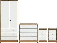 Argos Home Malibu 4 Piece Wardrobe Set - White/