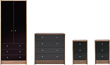 Argos Home Malibu Gloss 4 Piece Wardrobe Set