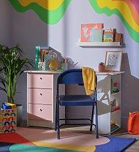 Argos Home Malibu Kids 3 Drawer Desk - Pink & White