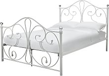 Argos Home Marietta Double Metal Bed Frame - White