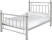 Argos Home Mayfair Double Metal Bed Frame - Chrome
