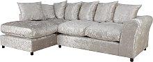 Argos Home Megan Large Left Corner Fabric Sofa -
