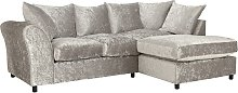 Argos Home Megan Right Corner Fabric Sofa - Silver