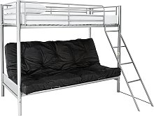 Argos Home Metal Bunk Bed, Black Futon & Kids Mattress
