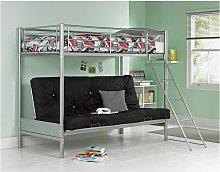 Argos Home Metal Bunk Bed Frame with Black Futon