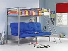 Argos Home Metal Bunk Bed Frame with Blue Futon