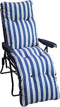 Argos Home Metal Sun Lounger Chair with Cushion -