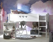 Argos Home Mia Mid Sleeper Bed Frame with Desk -