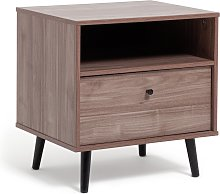 Argos Home Mid Century 1 Drawer Bedside Table -