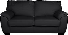 Argos Home Milano 2 Seater Leather Sofa Bed - Black
