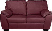 Argos Home Milano 2 Seater Leather Sofa - Burgundy