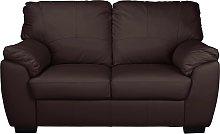 Argos Home Milano 2 Seater Leather Sofa - Chocolate