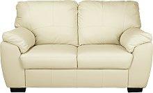 Argos Home Milano 2 Seater Leather Sofa - Ivory