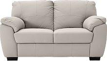 Argos Home Milano 2 Seater Leather Sofa - Light