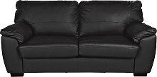Argos Home Milano 3 Seater Leather Sofa - Black
