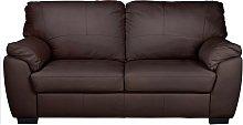 Argos Home Milano 3 Seater Leather Sofa - Chocolate