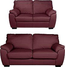 Argos Home Milano Leather 2 Seater & 3 Seater Sofa