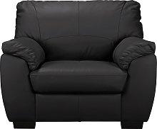 Argos Home Milano Leather Armchair - Black